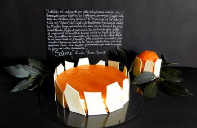 SATINE d'après Pierre Hermé : orange, fruit de la Passion, cream cheese