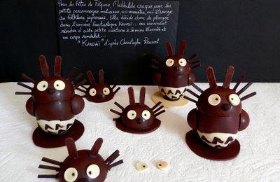 KAWAÏ d'après Christophe Roussel avec garnissage croustillant chocolat noir, praliné et sucre pétillant