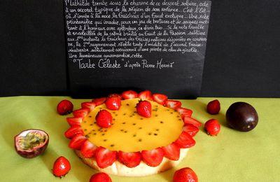 Tarte Céleste d'après Pierre Hermé : Fraise, Rhubarbe, Fruit de la Passion