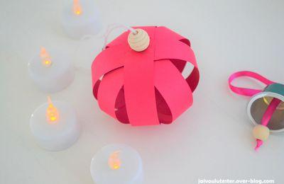 ... le DIY spécial Noël (#8): la boule en papier