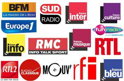 La liste des invités radio du vendredi 30 octobre 2015 (rajout Fun Radio)