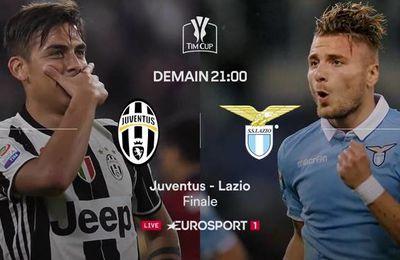 La finale de la Coupe d'Italie Juventus Turin / Lazio Rome à suivre sur Eurosport