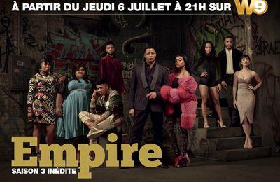 Coup d'envoi de la saison 3 inédite d'Empire ce soir sur W9