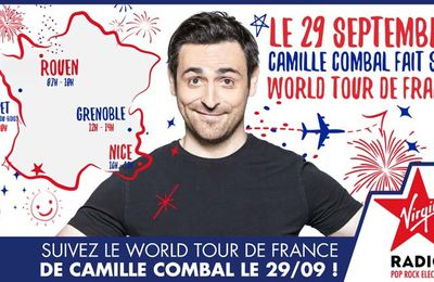 Le World Tour de France de Camille Combal de retour le 29 septembre sur Virgin Radio