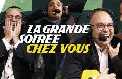 Yoann Riou et Raphaël Sebaoun de la chaîne L'Equipe s'invitent ''chez vous'' pour une grande soirée inédite !