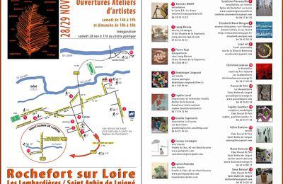 Ateliers d'artistes à Rochefort sur Loire en novembre 2015