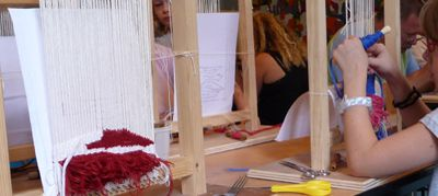 Ateliers textiles de printemps au musée J.Lurçat en avril