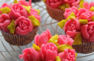 Cupcakes Décor Roses