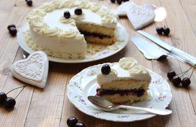 Gâteau aux Cerises et Cream Cheese