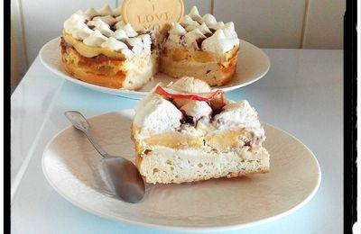 Gâteau de fromage blanc revisité pomme-rhum-chocolat