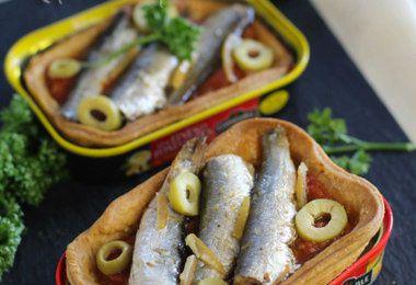 Tartes aux sardines en conserve