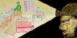 Le poignant dessin d'une enfant de mineur , jour de deuil.