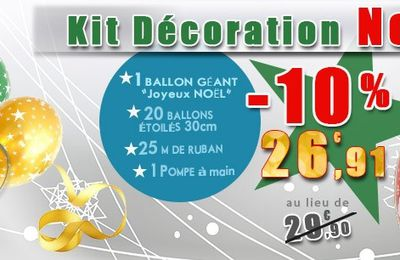 Kit Déco de Noel pas cher