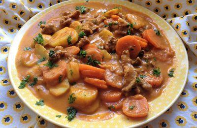émincé de boeuf,carottes,pommes-de-terre façon colombo TM31