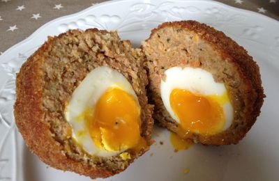 scotch eggs TM5 (et sauce au cheddar/oignons TM5)