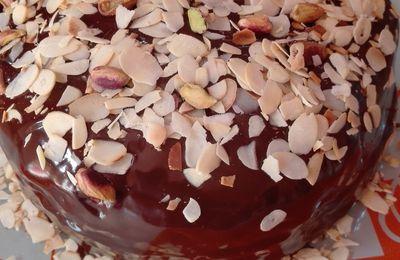 Molly cake ganache chocolat , amandes et pistaches.