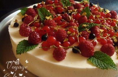 Bavarois vanillé aux fruits rouges