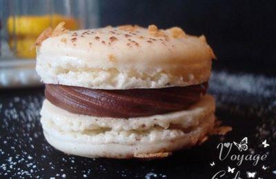 Macarons chocolat au lait - fruit de la passion