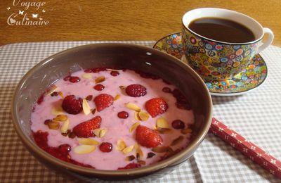 Flocons d'avoine tout rose au lait Ribot pour la sensibilisation au dépistage du cancer du sein