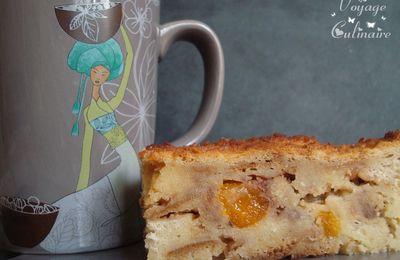Pudding aux abricots tendres, chocolat au lait et fève de tonka