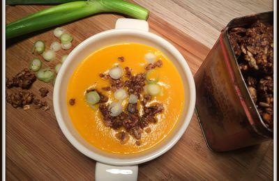 Des soupes, oui, mais avec un peu de croquant ! Granola salé !
