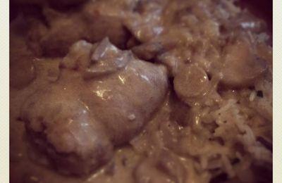 Paupiettes de veau aux champignons et riz ( cookeo)