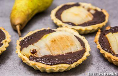 Tartelettes poires chocolat