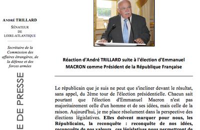 Ma réaction suite à l'élection d'Emmanuel Macron à la présidence de la République Française