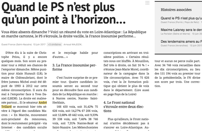 "Reprise Ouest France : ""Quand le PS n'est plus qu'un point à l'horizon"""