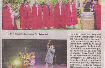 """"""" Côté Jardin 2017 """" Festival Nicole Cluzeau 11ème édition, l'écho de du Résistant !"""