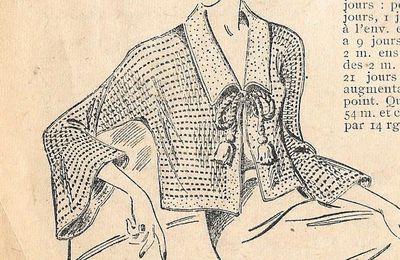 Liseuse au tricot
