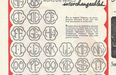 Broderie blanche : les monogrammes interchangeables