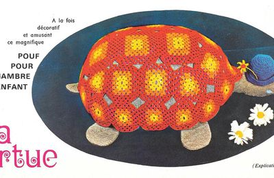 Une tortue-pouf pour chambre d'enfants