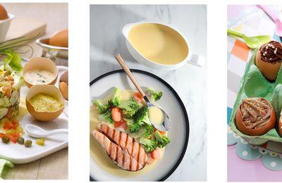 À Pâques, les oeufs sucrés ou salés sont aussi dans l'assiette !