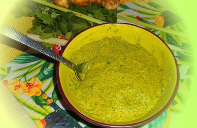 Pâte de curry vert maison Thailandais, coriandre, galanga, citronnelle
