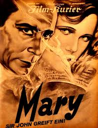 "Alfred HITCHCOCK, 1931 : ""Murder"" et ""Mary"""