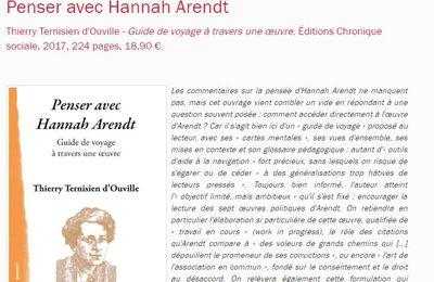 Recension de Penser avec Hannah Arendt (Revue Études)