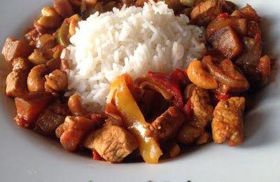 Curry de porc à l'aubergine