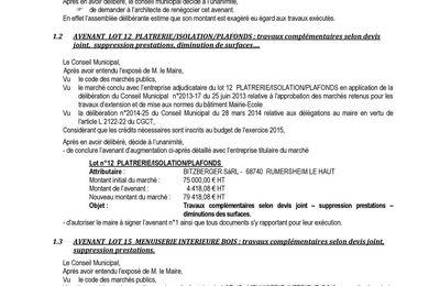 Conseil municipal du 20 janvier 2015