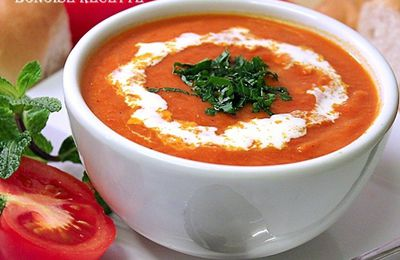 Soupe facile tomate/poivron grille