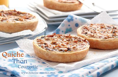 Quiche facile au thon et courgette