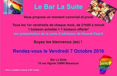 Offre spécial Adhérents Happy Hour au Bar La suite