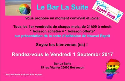 Happy Hour au Bar La suite