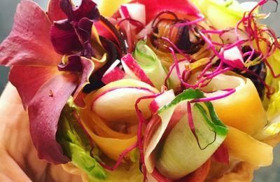 | Tartelette sans cuisson aux légumes crus |