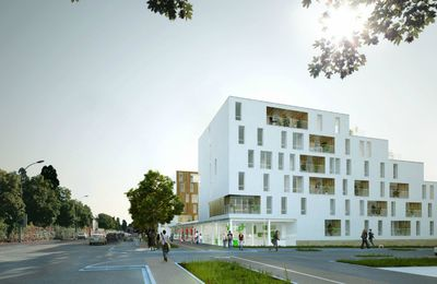 100 Social Housing Units in Caen - OLGGA Architects