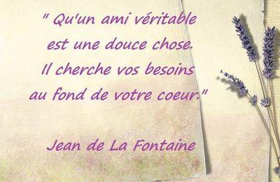 Citation de Jean de La Fontaine : douceur de l'amitié