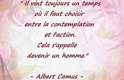 "Citation d'Albert Camus : ""devenir homme"""