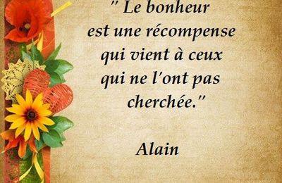 Citation d'Alain sur le bonheur