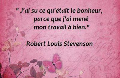 Citation de Robert-Louis Stevenson sur le bonheur