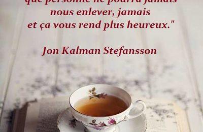 Citation de Jon Kalman Stefansson sur la lecture